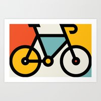 Color Bike 1 Art Print