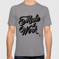 Make it Work Mens Fitted Tee Tri-Grey SMALL