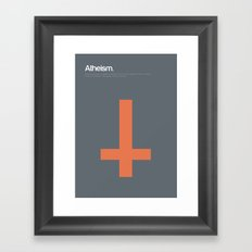 Atheism Framed Art Print