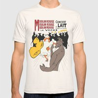 Moolin Rouge - This Cow … Mens Fitted Tee Natural SMALL