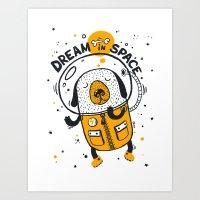 Dream in space Art Print