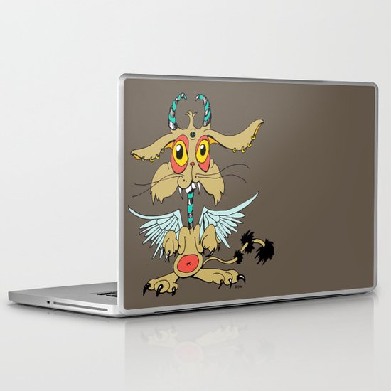 Evil Flying Feline Jackalope  Laptop & iPad Skin