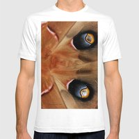 Polyphemus Giant Moth - Wing Detail Mens Fitted Tee White SMALL