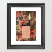 Lighter On Floral Framed Art Print