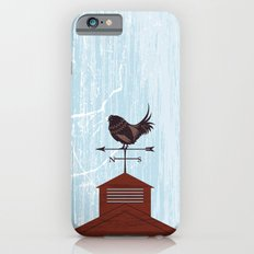 Illustration - Rooster Weather Vane On Textured Sky Slim Case iPhone 6s