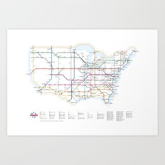 Interstate Art Print