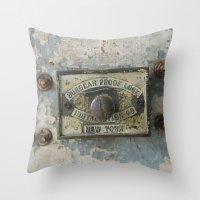 DUMBO Loft Door Lock-Brooklyn, New York Throw Pillow