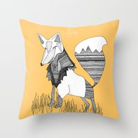 Feeling Foxy Throw Pillow