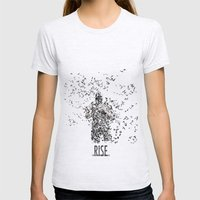 Bane Womens Fitted Tee Ash Grey SMALL