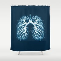 I Breathe Music Shower Curtain