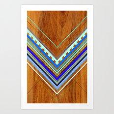Aztec Arbutus Blue Art Print
