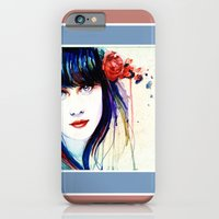 iPhone & iPod Case featuring Zooey Watercolor by Isaiah K. Stephens