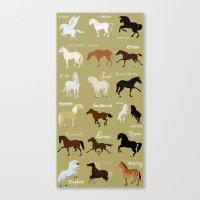 Famous horses Canvas Print
