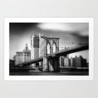 Brooklyn Bridge In B&W Art Print