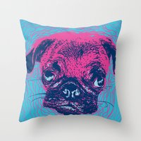 HypnoPug Throw Pillow