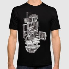 house 2 Mens Fitted Tee Black SMALL