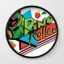 Dino Rollers Logo Wall Clock