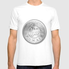 100 Fils White Mens Fitted Tee SMALL