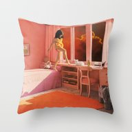 Throw Pillow featuring HOT LAVA by Beth Hoeckel Collage…