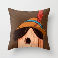 Woodpecker´s House Throw Pillow