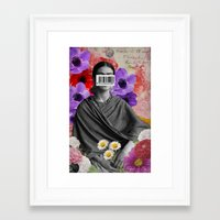 Public Figures Collection -- Frida by Elo Framed Art Print