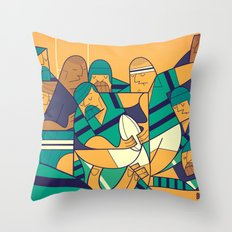 Rugby 2 Throw Pillow