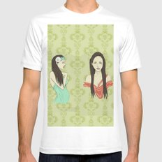 Princesas White Mens Fitted Tee SMALL