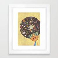 Rhythm is funky Framed Art Print