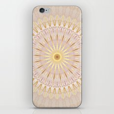Beige Gold Mandala Medallion iPhone & iPod Skin