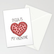 Valentine Pizza Stationery Cards
