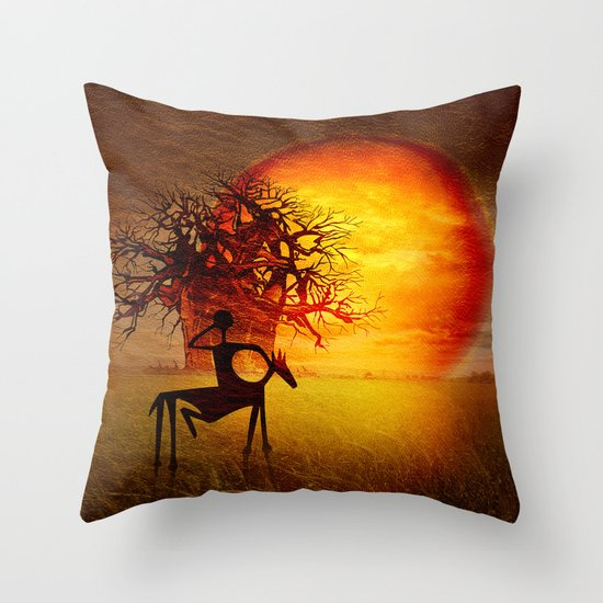 Visions of fire Throw Pillow