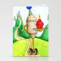 Birthday Robot 1: Cupcak… Stationery Cards