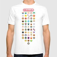 Mintendo Mens Fitted Tee White SMALL