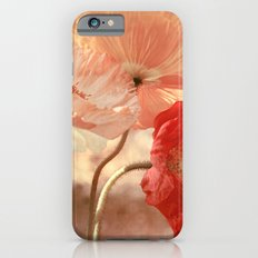 Poppies in Red, White & Peach iPhone 6 Slim Case