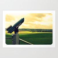 Overlooking The Battlefi… Art Print