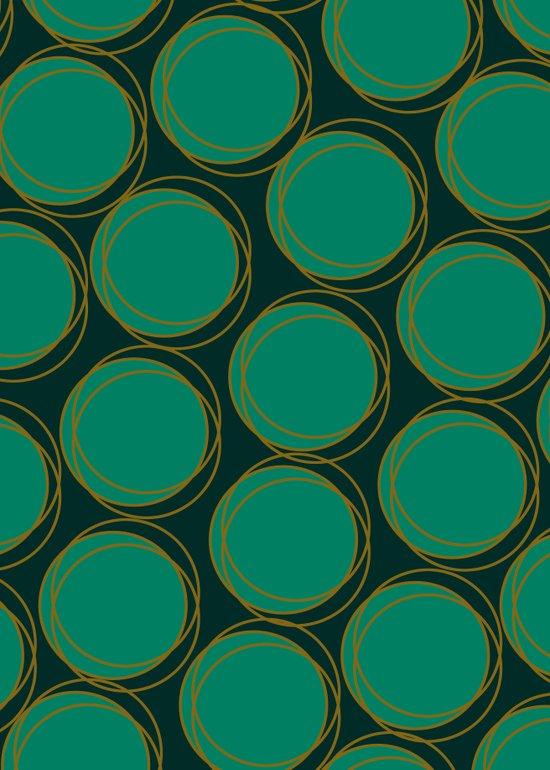 Emerald Polka Art Print