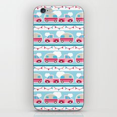 Glamping stripes iPhone & iPod Skin