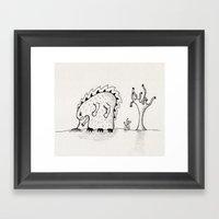Desert Creature Framed Art Print