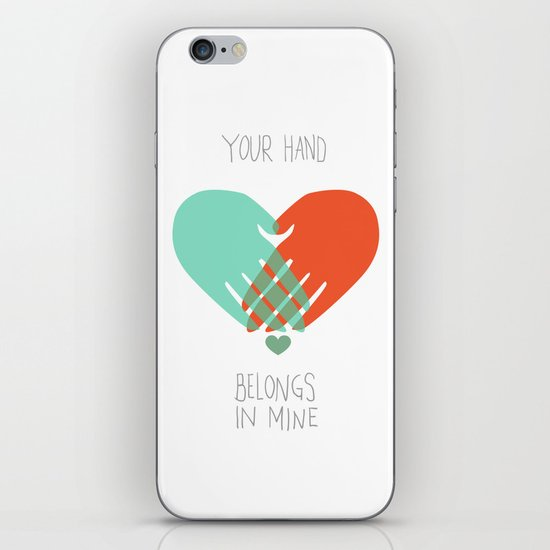 I wanna hold your hand iPhone & iPod Skin