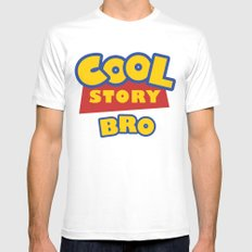 Cool Story, Bro SMALL White Mens Fitted Tee