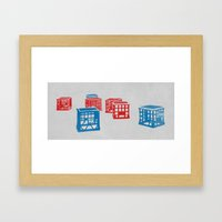 Crates  Framed Art Print