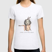 Long Live The Dead - Rac… Womens Fitted Tee Ash Grey SMALL