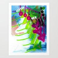 Wave Pink Art Print