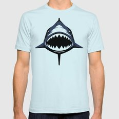 ZyuohShark Light Blue Mens Fitted Tee SMALL