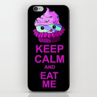Keep Calm And Eat Me iPhone & iPod Skin