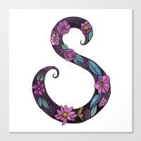 Floral S Canvas Print