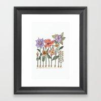 Progress Flowers Framed Art Print
