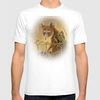Solar Owls Ceres  Mens Fitted Tee White SMALL