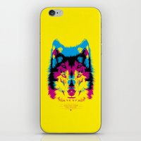 Wolf CMYK iPhone & iPod Skin
