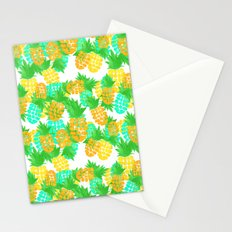 Watercolor Pineapples Tropic Stationery Cards